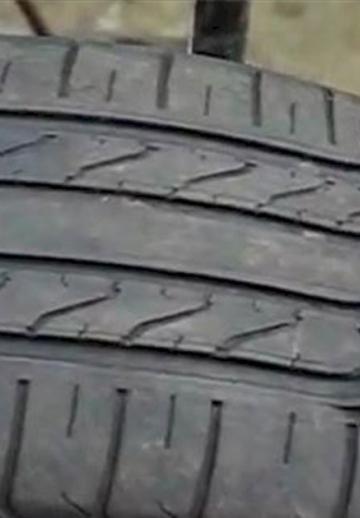 Voici comment les fraudeurs s'y prennent pour qu'un vieux pneu ait l'apparence d'un neuf!