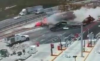 Un grave accident survient sur un chantier routier et les images sont terrifiantes!