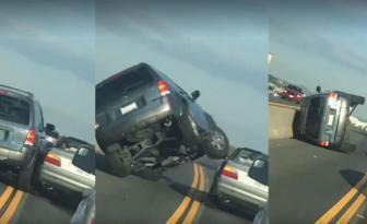 Un cas de rage au volant devient un vrai désastre quand le conducteur perd le contrôle