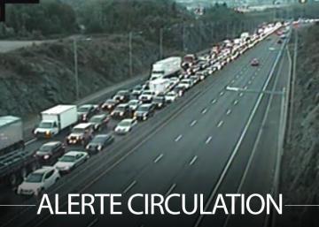 Un accident provoque un important bouchon sur l'autoroute
