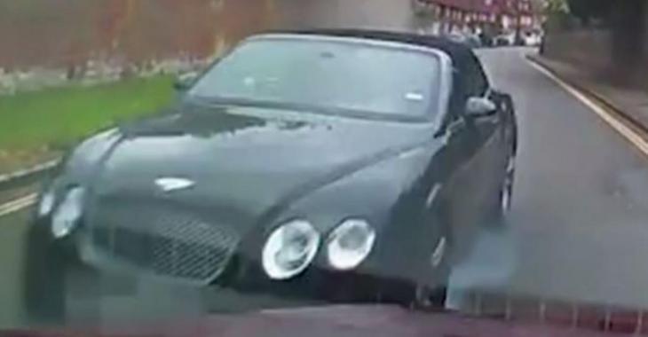 Un malade en Bentley fonce sur la voiture d'un retraité et provoque un énorme accident