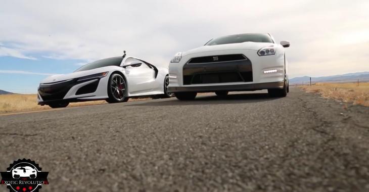 Un duel musclé entre une Acura NSX 2017 et une Nissan GTR 2016. Qui en sortira vainqueur?