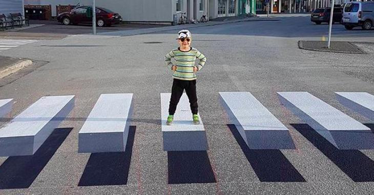 Des passages de piétons en 3D pour faire ralentir les automobilistes? Une idée qui devrait être appliquée partout!