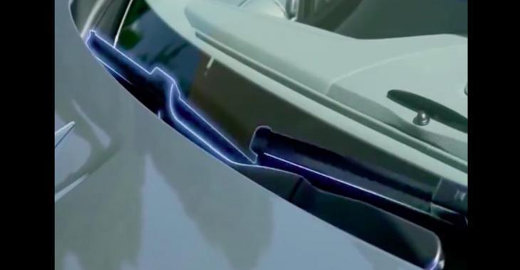 Voici les fameux essuie-glace magiques de Mercedes! Le concept est vraiment astucieux!