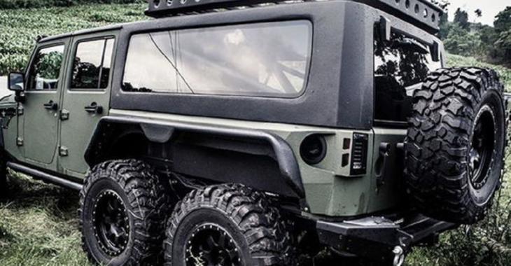 Une compagnie chinoise modifie un Jeep Wrangler pour en faire une BÊTE à 6 roues motrices!