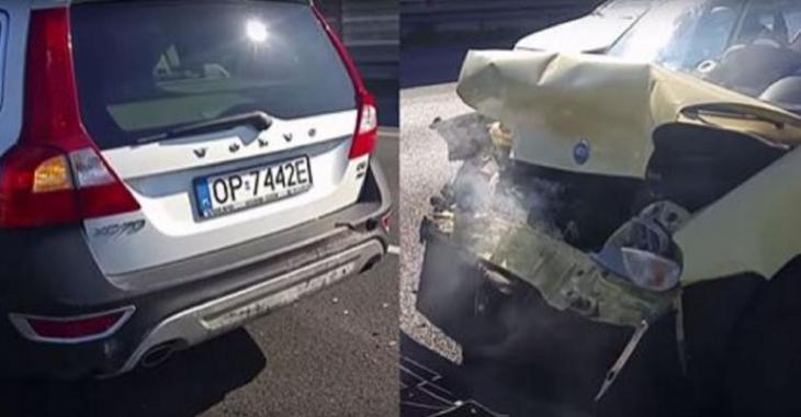 Il fait un accident violent avec sa Volvo, sa voiture n'a rien mais la FIAT est DÉTRUITE!