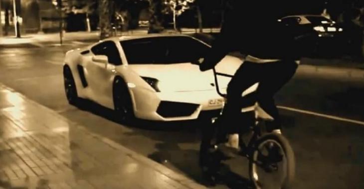 Un idiot en bmx manque totalement de respect envers la Lamborghini, c'est frustrant!
