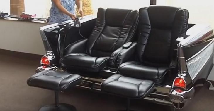 Il transforme sa voiture classique en divan, meuble de télé et réfrigérateur, son invention est géniale!
