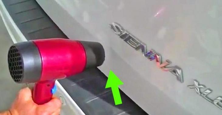 Une superbe astuce pour réparer une bosse sur votre voiture pour à peine quelques dollars!