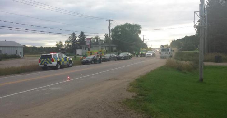 Une collision impliquant 4 véhicules fait plusieurs blessés