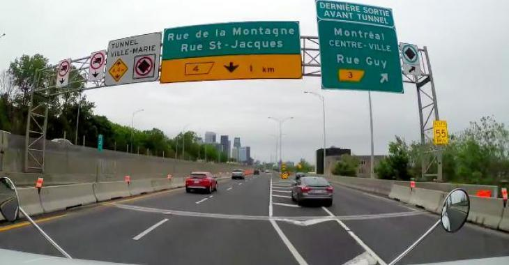 C'est arrivé au Québec; Un conducteur âgé se trompe de sortie, et revient à la dernière seconde sur l'autoroute; il a passé à un cheveu de se faire écraser par un poids lourd!