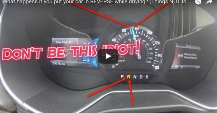 Que se passe-t-il si vous embrayez le reculons sur autoroute?