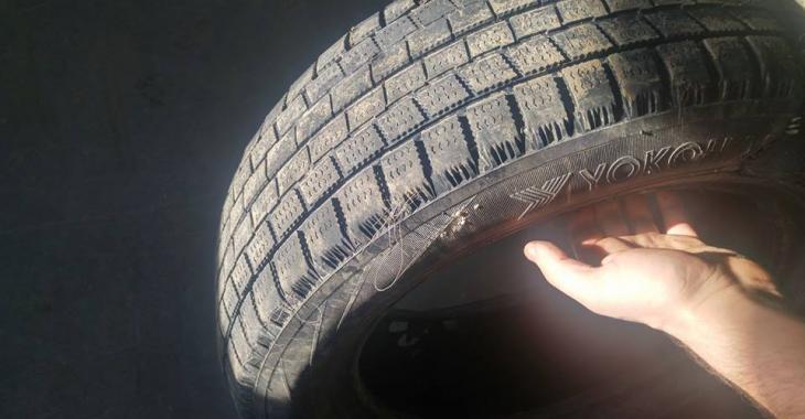 Soyez prudents lorsque vous achetez des pneus usagés!