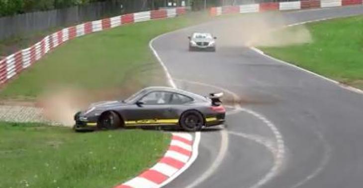 Il perd le contrôle de son sublime bolide sur le Nurburgring! Il a certainement eu toute une frousse!
