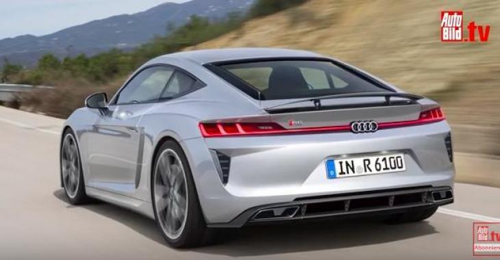 Et si Audi nous mijotait quelque chose avec un tout nouveau modèle, un peu plus petit que la R8? C'est malade, regardez la belle voiture!