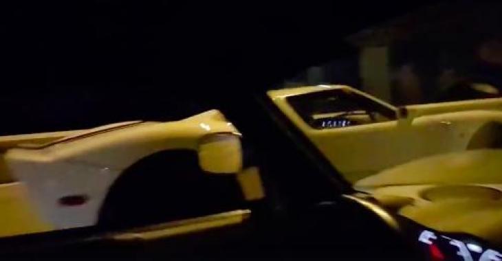 Ils ont toute une surprise sur la route en voyant ce bolide qui leur est tout à fait inconnu! Quelle voiture spectaculaire!
