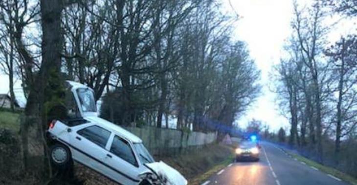Haute-Garonne: Un jeune conducteur place sa voiture dans une situation embarrassante.