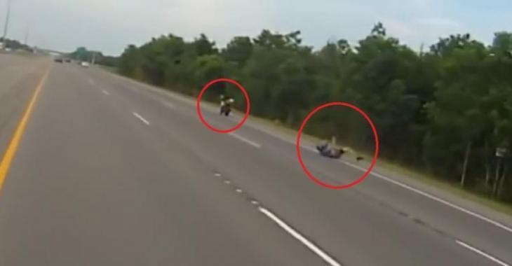 VIDÉO: Terrible accident de moto à 160 km/h!