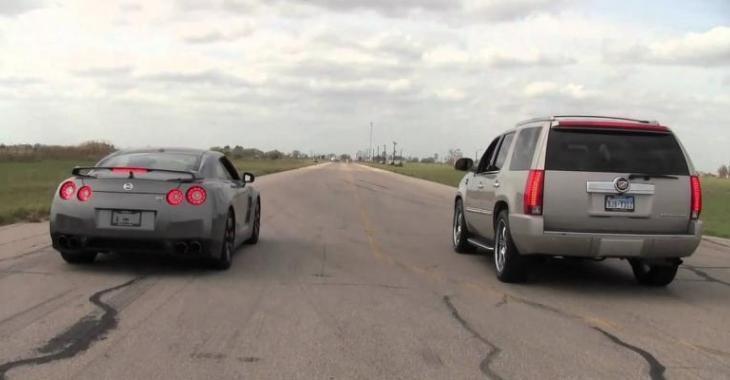 Cette GT-R se fait RIDICULISER par ce Cadillac Escalade, qui aurait pensé que ce serait possible!?