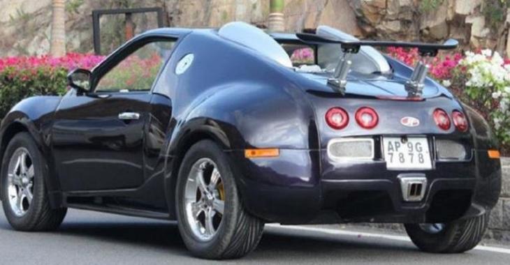 Il modifie une voiture bien particulière pour en faire une fausse Bugatti Veyron!