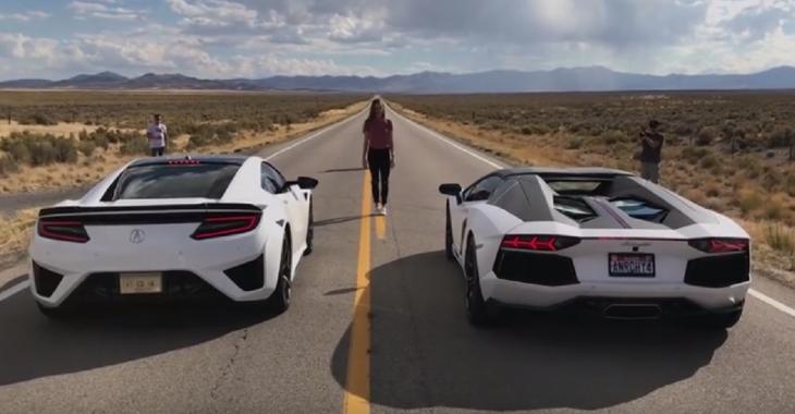 Cette Aventador se fait RIDICULISER par la NSX, c'est impressionnant!