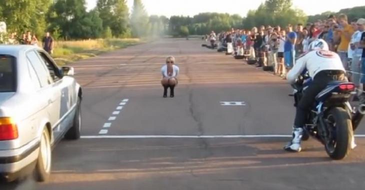 Humiliation décevante pour ce motocycliste et ce n'est pas le résultat de la course!