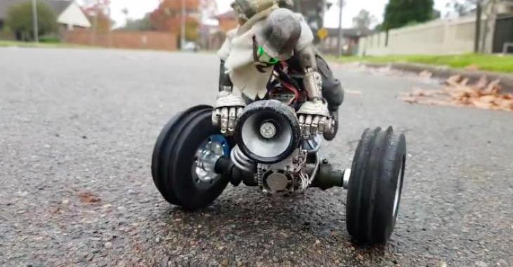 Ce petit bolide téléguidé a un look génialIl est  avec son conducteur venu de l'enfer!