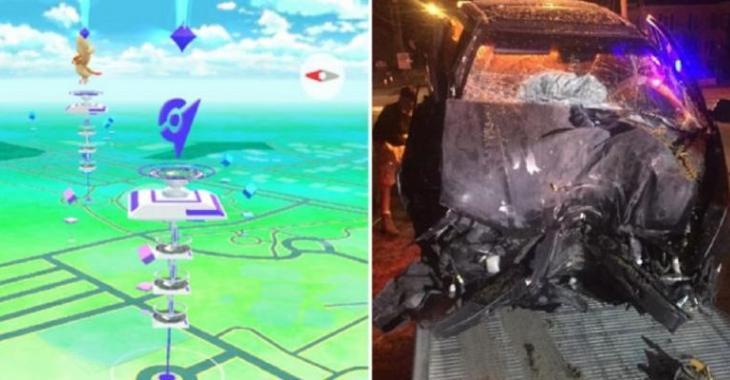 Il fait un face-à-face avec un arbre pour avoir joué à Pokemon Go au volant, le choc est violent!