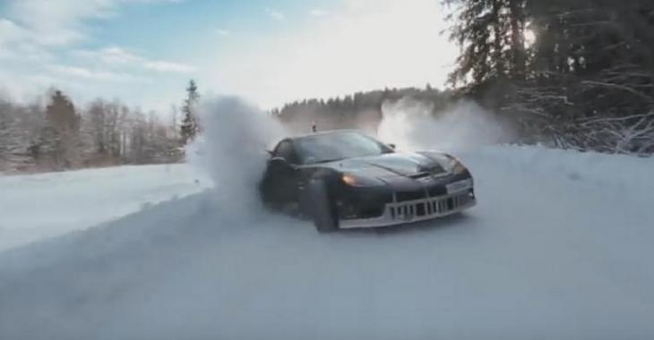 Duel ÉPIQUE sur neige en Russie: Corvette vs Supra!