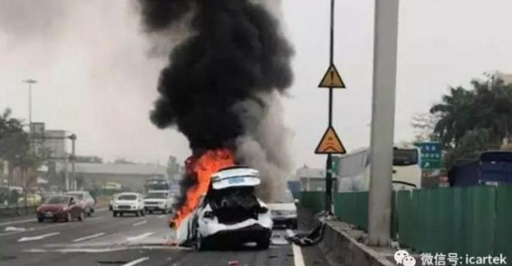 Tesla encore au Coeur d'une controverse à cause d'un grave accident en Chine!