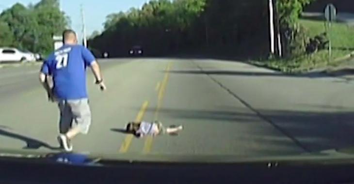 Une petite fille de 4 ans tombe d'un autobus en marche et se fracture la mâchoire!