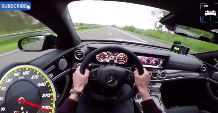 Voici de quoi a l'air 0-300KM/H dans un Mercedes E63S AMG; vous connaîtrez la perfection!