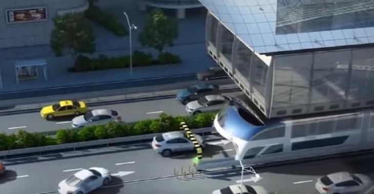 Une invention incroyable qui révolutionne le transport en commun, les autos passent sous le bus!