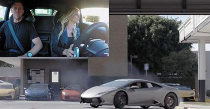 Un couple s'offre une spectaculaire séance de drift dans une Lamborghini Huracan