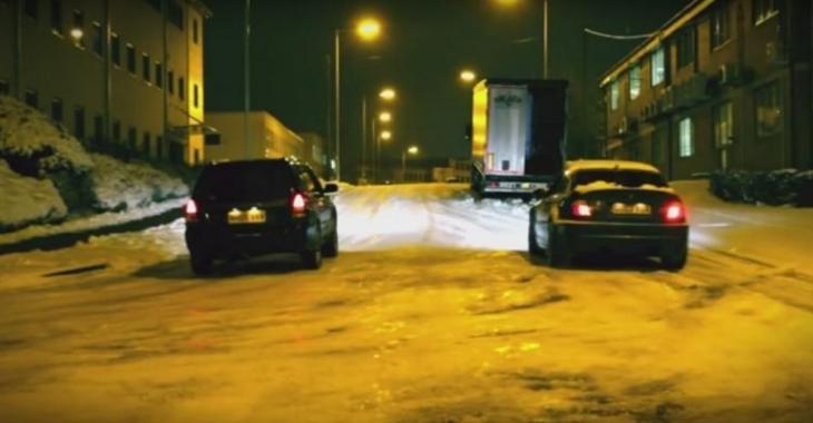 VIDÉO: Pneus d'hiver vs pneus d'été sur la neige!