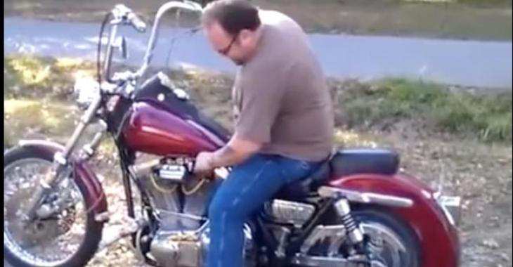 Oh non! Pauvre moto!!!
