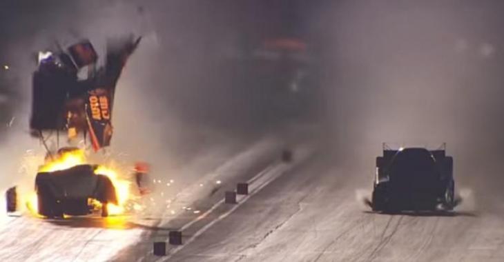 Catastrophe au départ, sa voiture lui explose en plein visage!