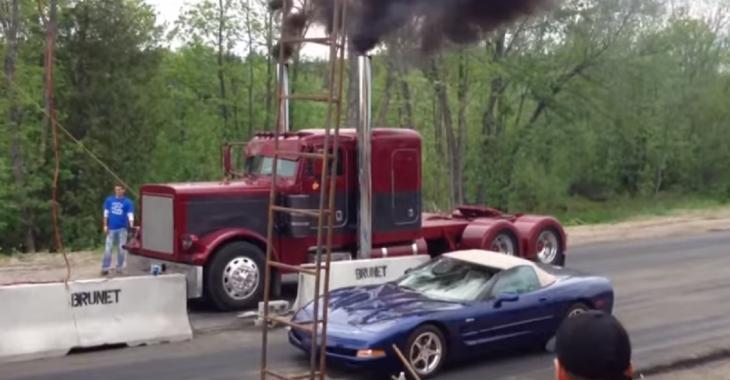 Il RIDICULISE cette Corvette avec son camion, c'est une bombe!