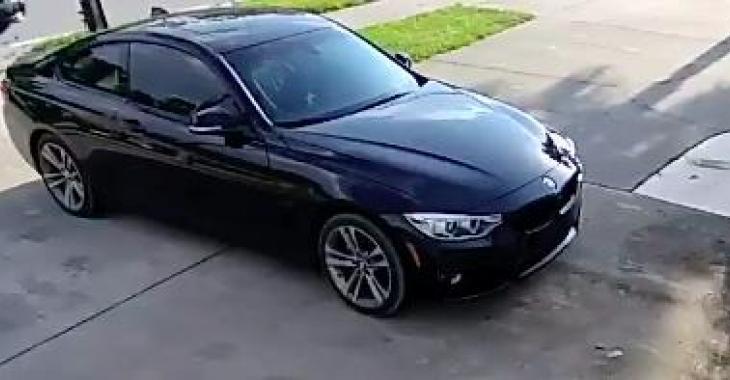 Le propriétaire de cette BMW sera bouche bée en voyant les images de cette caméra de surveillance... Vous n'en reviendrez pas!