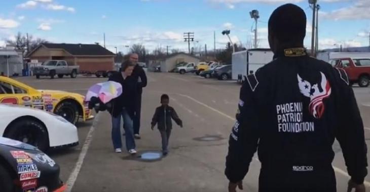 Cet enfant atteint du cancer réalise son rêve, un pilote de NASCAR est son complice!