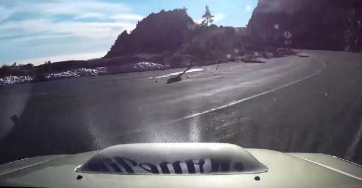 Il perd le contrôle de sa voiture et tombe d'une falaise, la suite est un véritable miracle!