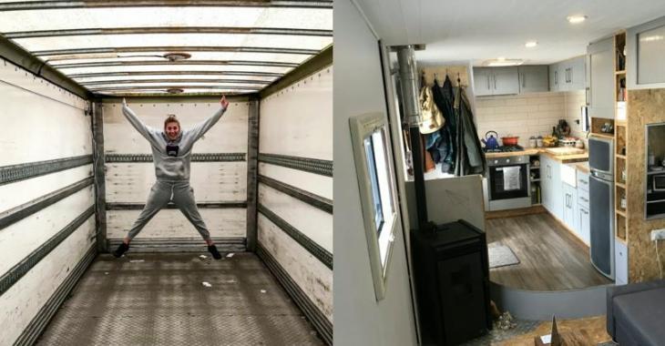Un couple transforme ce vieux camion en maison mobile de rêve